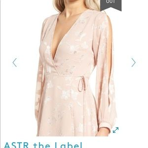ASTR the Label Burnout Wrap Dress NWOT